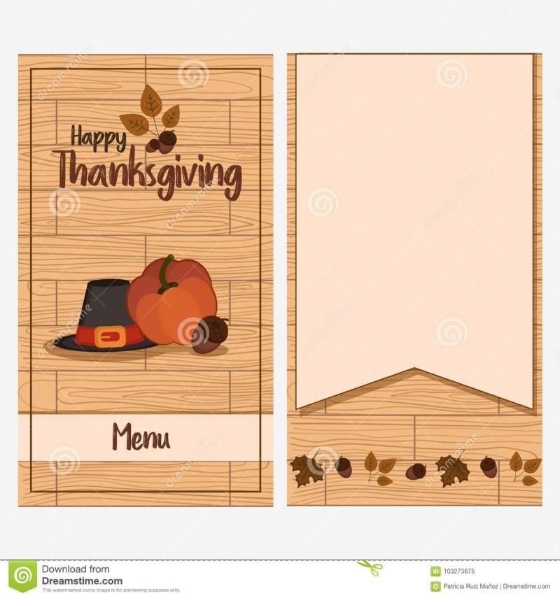thanksgiving day menu template stock vector illustration