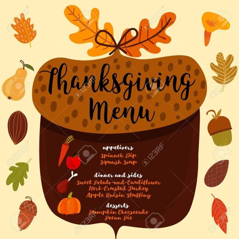 thanksgiving menu invitation design