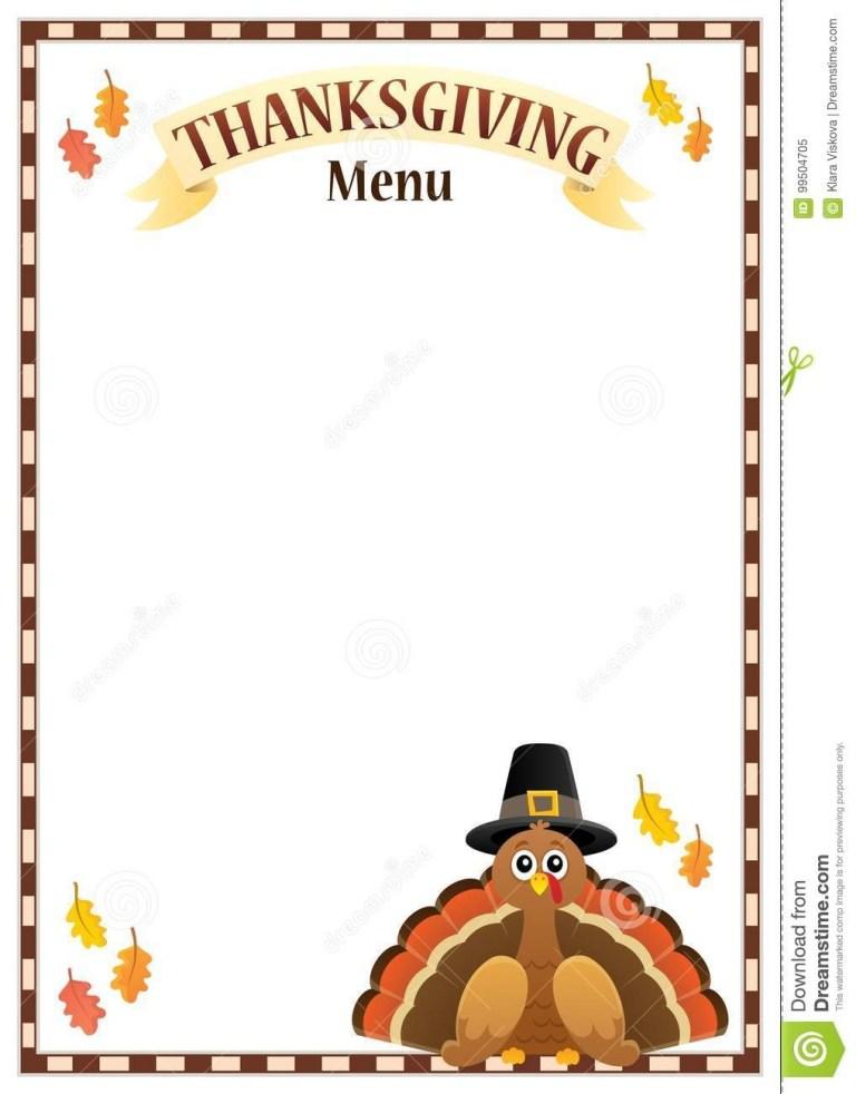 thanksgiving menu theme image 3 stock vector illustration