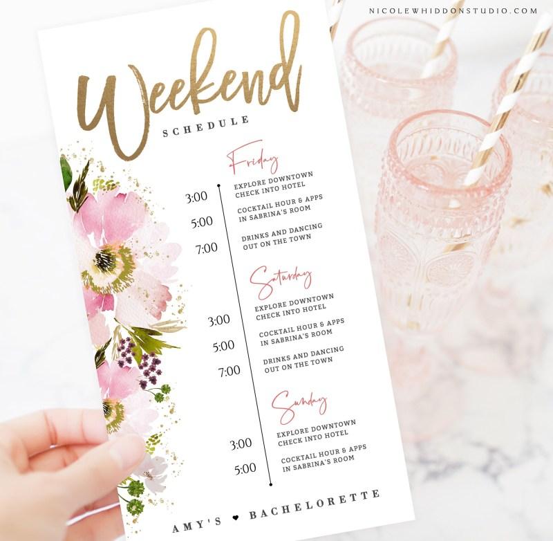 bachelorette weekend itinerary