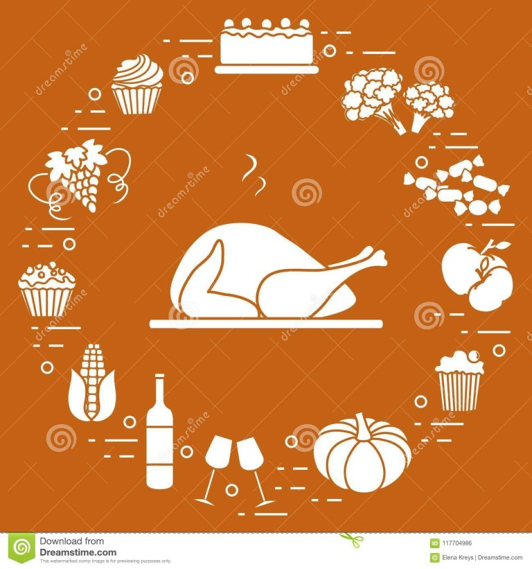 cartoon thanksgiving announcement template