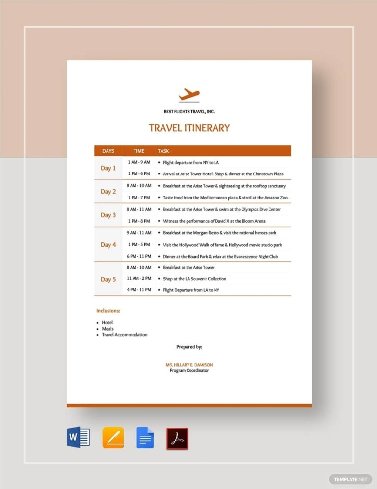 itinerary travel trip wedding vacation