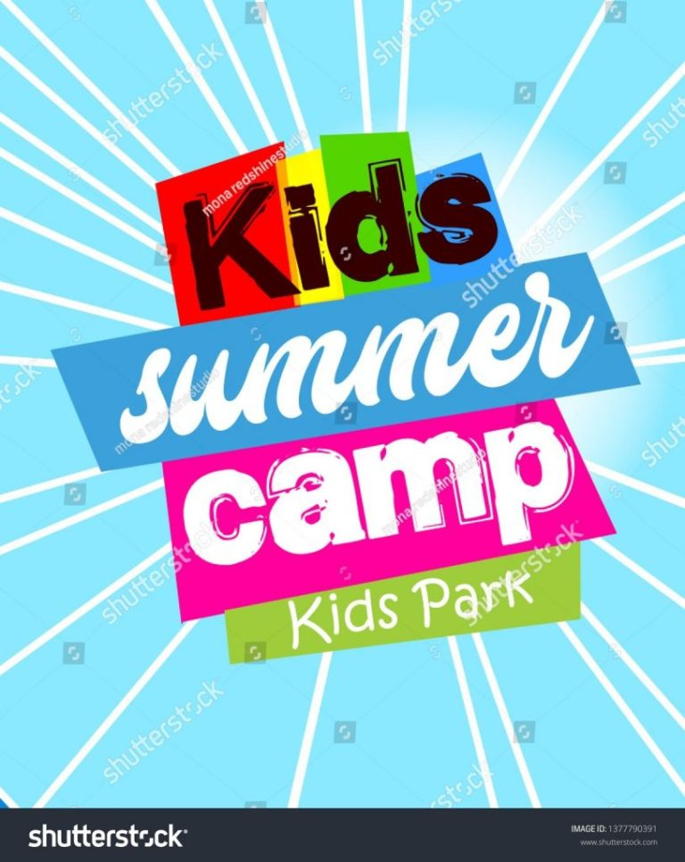 kids summer camp template for advertising