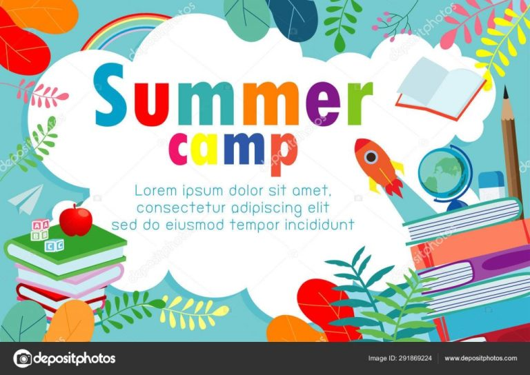 summer camp education concept template
