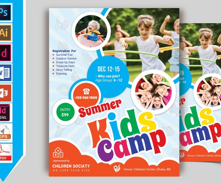 summer camp flyer microsoft word