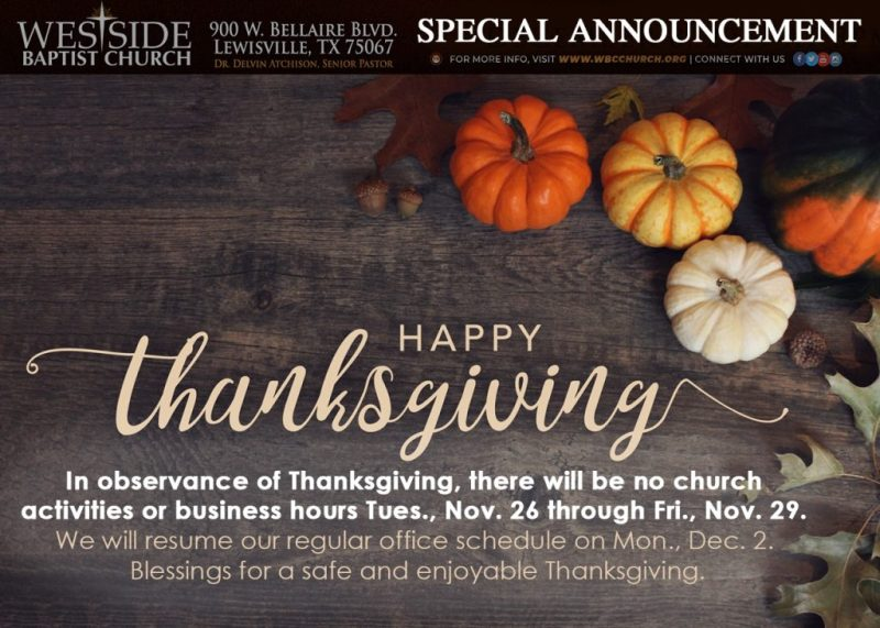 thanksgiving announcement template