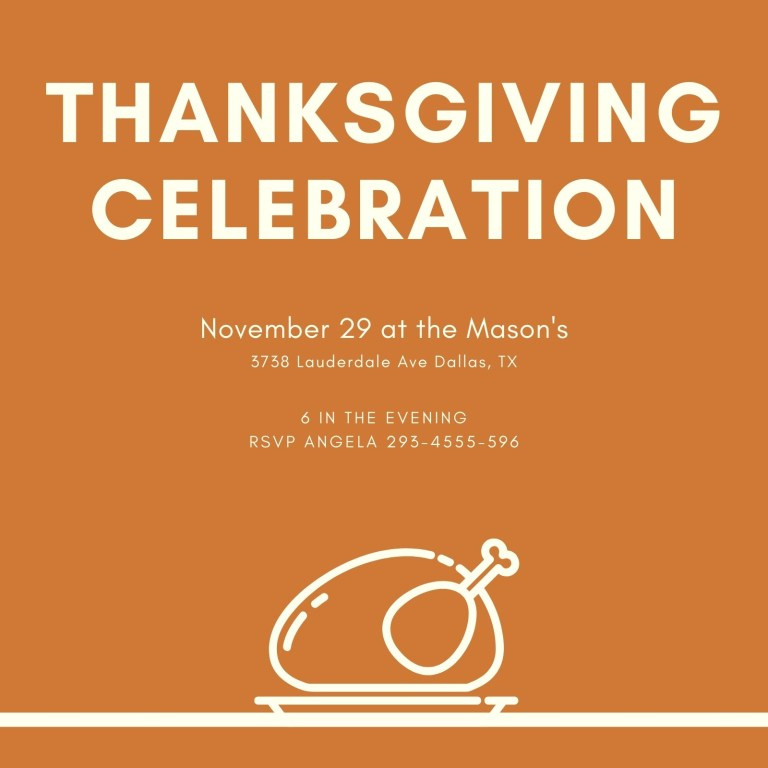 thanksgiving celebration card