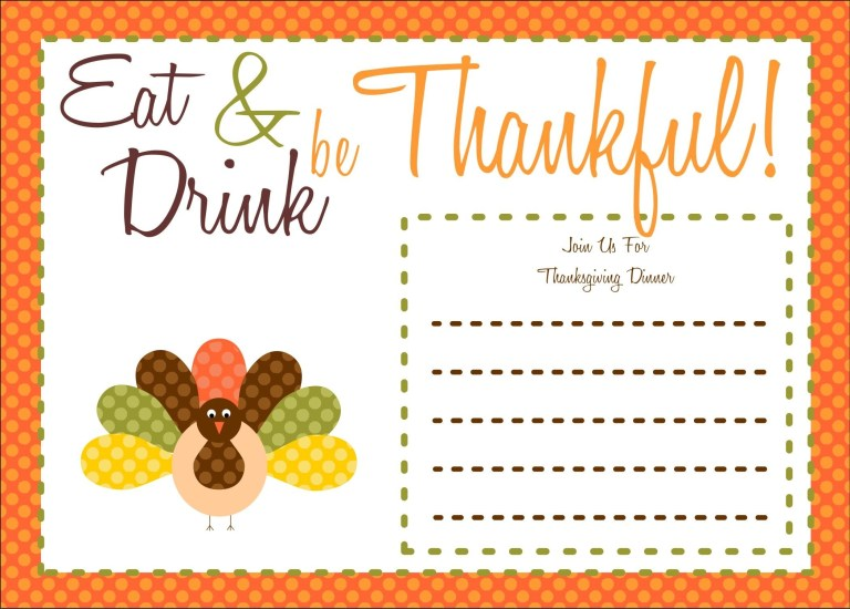 thanksgiving invitation party