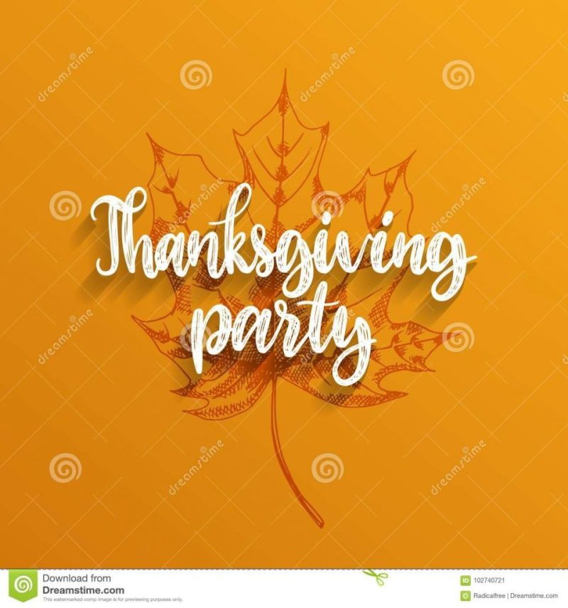 thanksgiving party hand lettering ideas