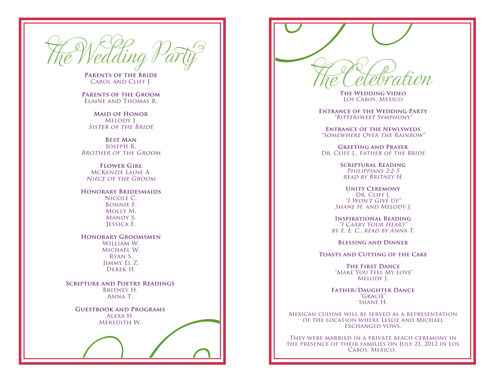 Wedding Itinerary Template As The Best Inspiration Candacefaber