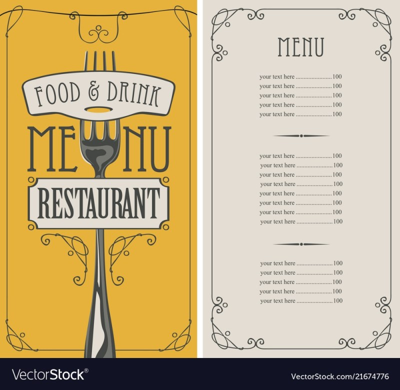 beverages menu list with price