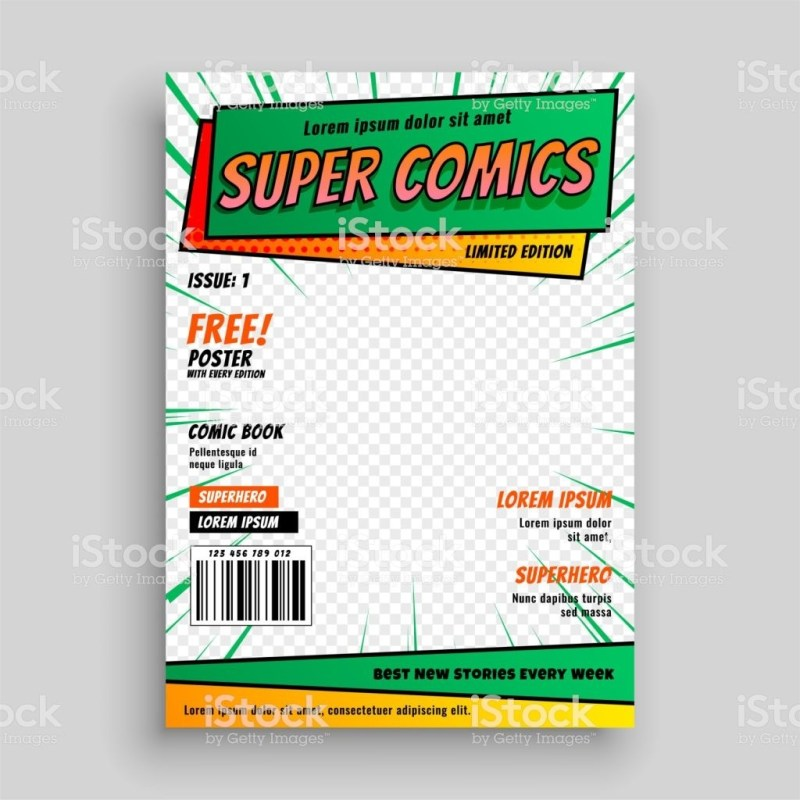 blank comic book cover layout
