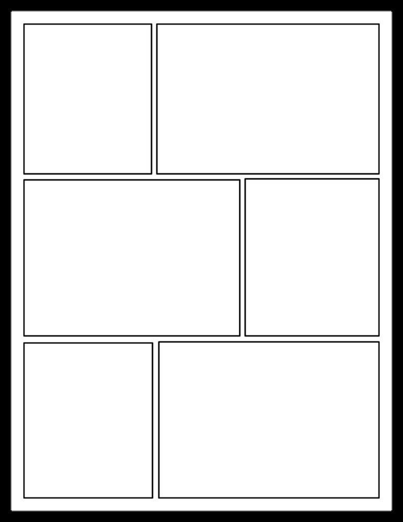 blank comic template