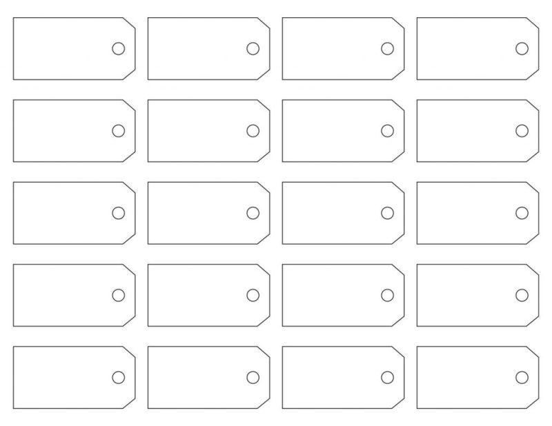 blank printable price tag