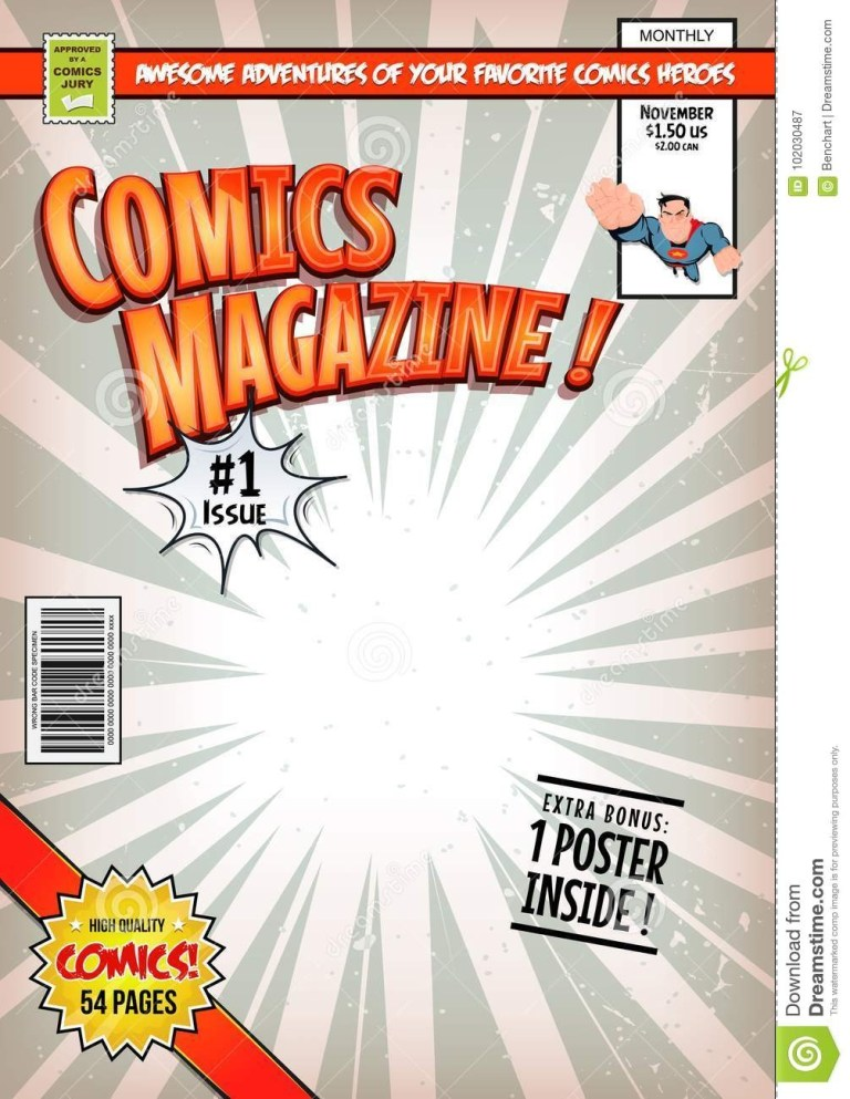 comic book cover illustration