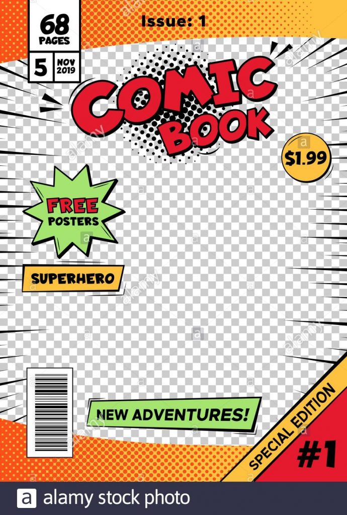 comic book cover page cartoon