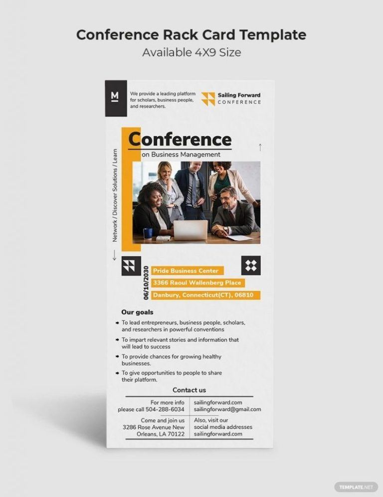 conference rack card 2020