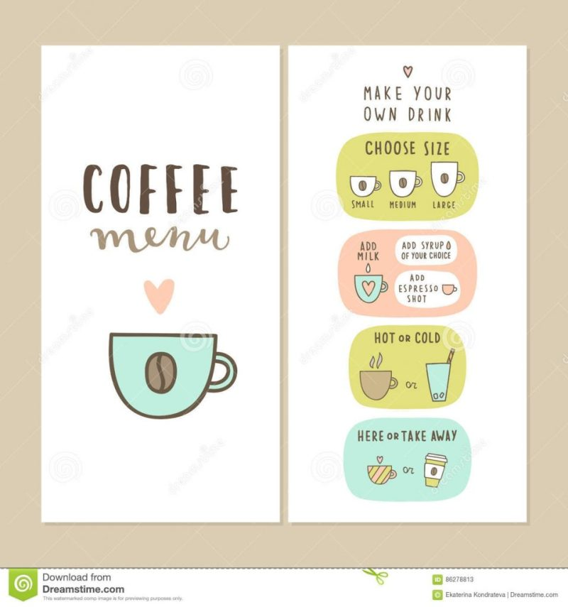cute coffee bar menu