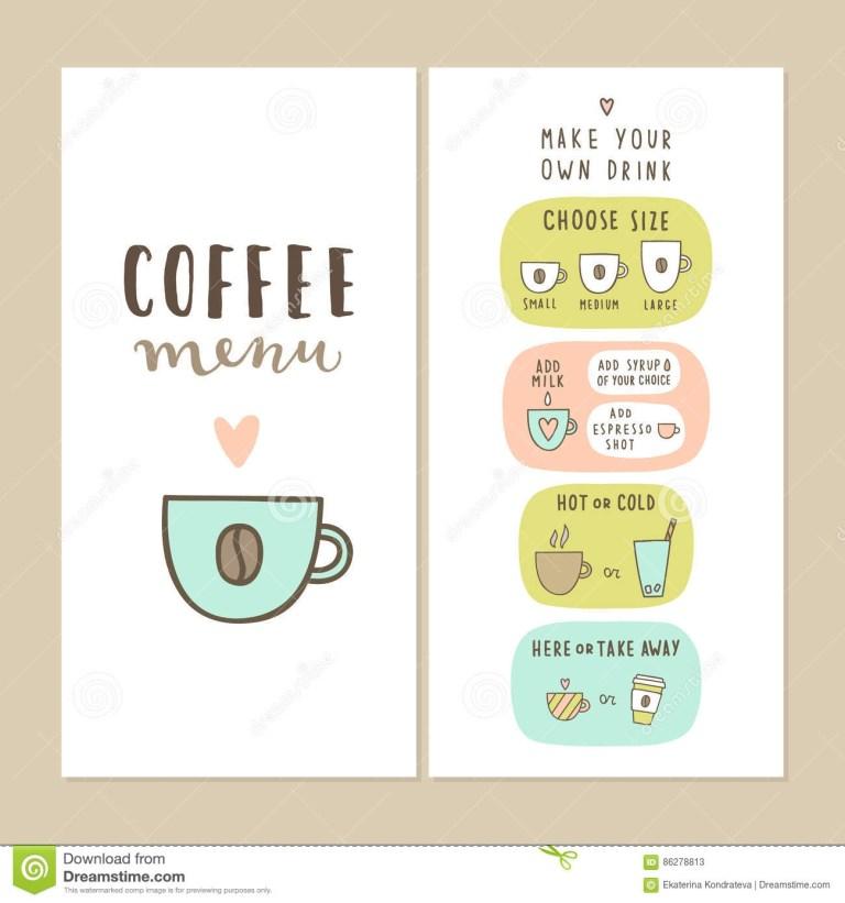 cute coffee bar menu