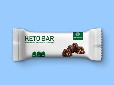 dark chocolate snack bar mockup