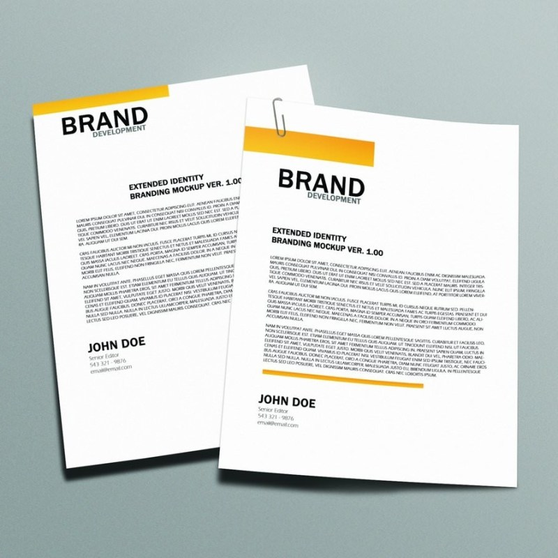 folder letterhead mockup