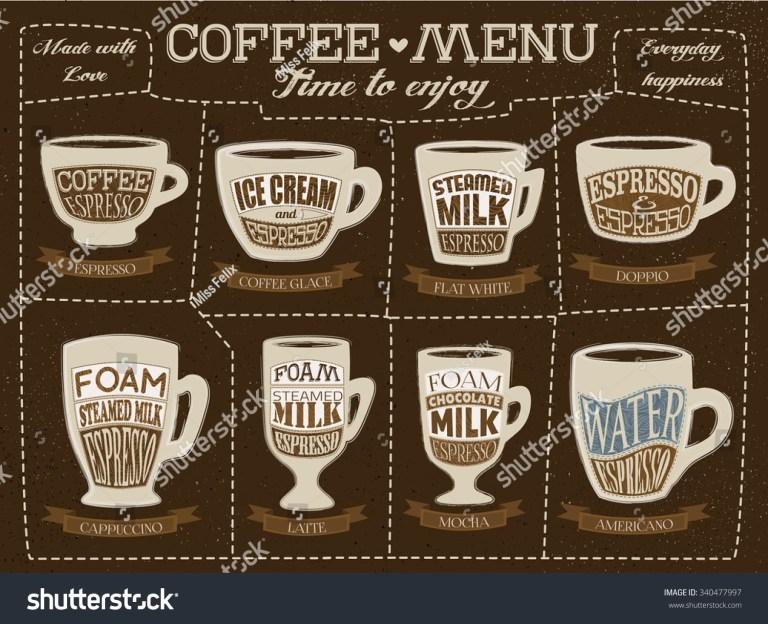hand drawn coffee menu template