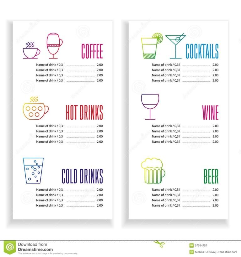 menu template clean background