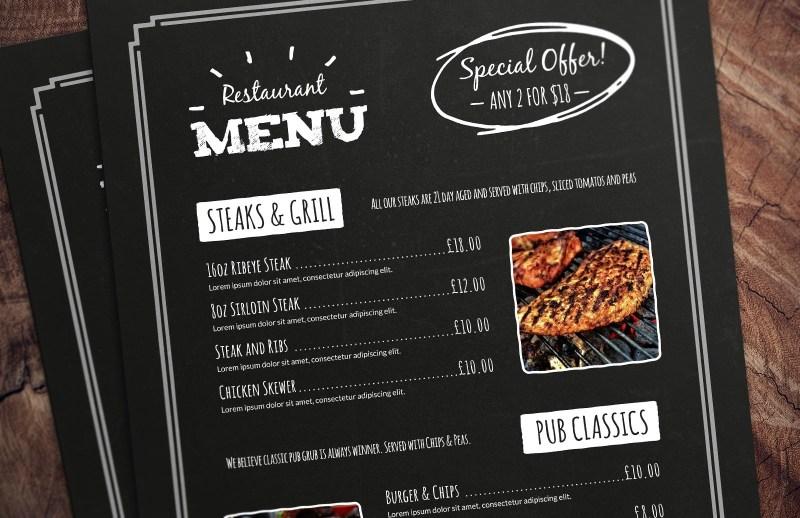 menu templates for restaurants word