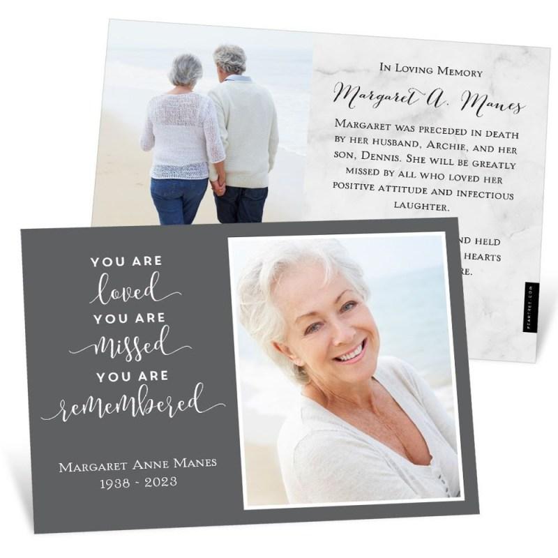 printable memorial card templates