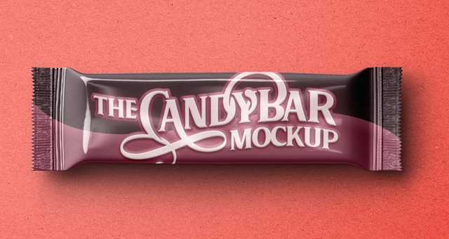 psd candy bar packaging mockup