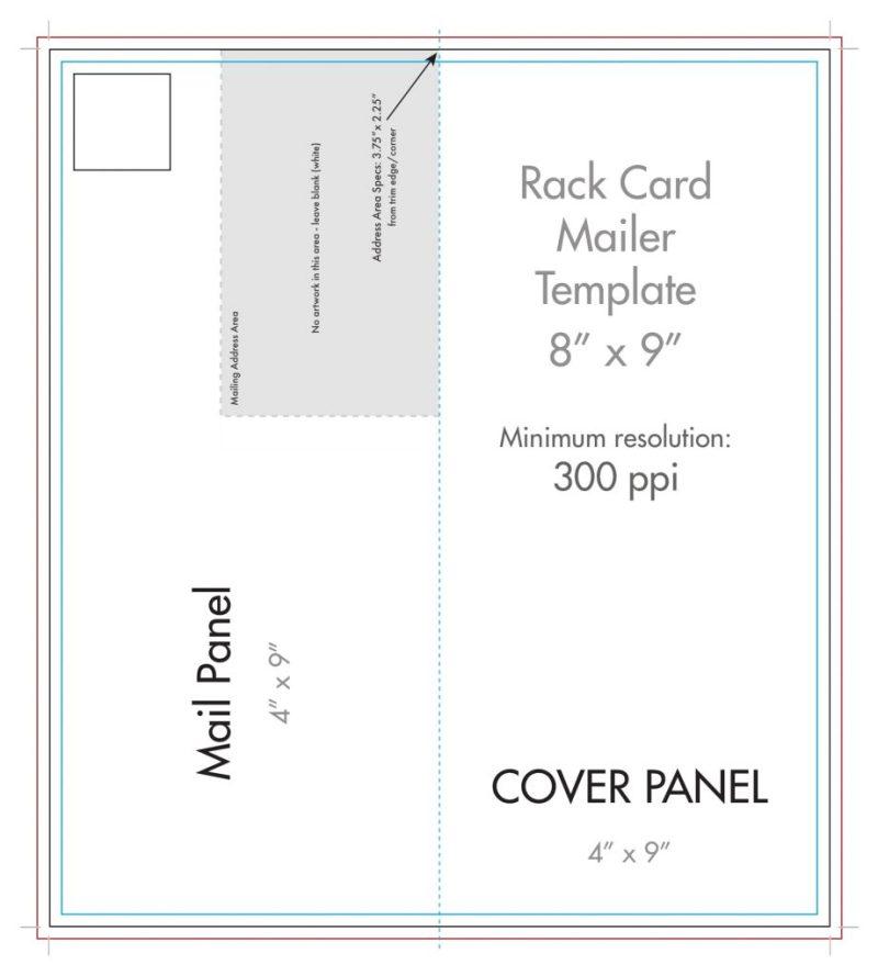 rack card mailer dimensions