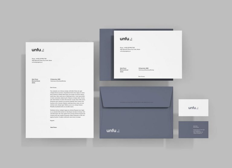 simple branding stationery mockup