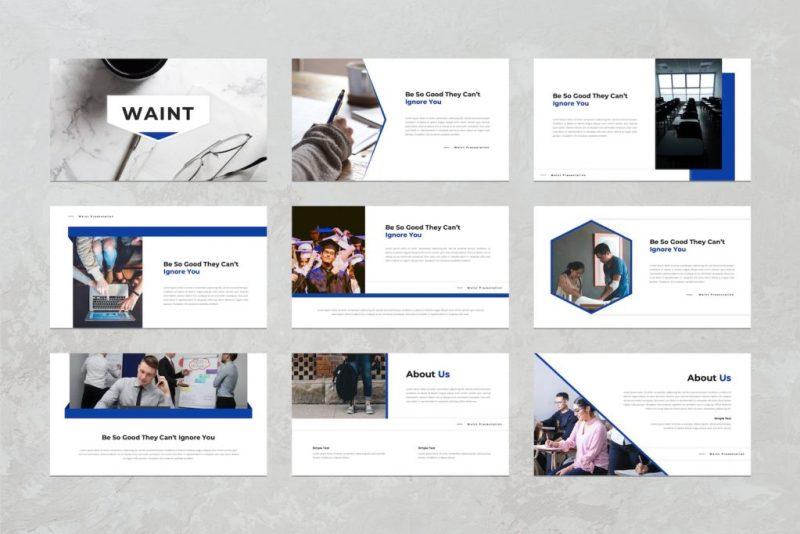 modern and professional presentation slide for school, university