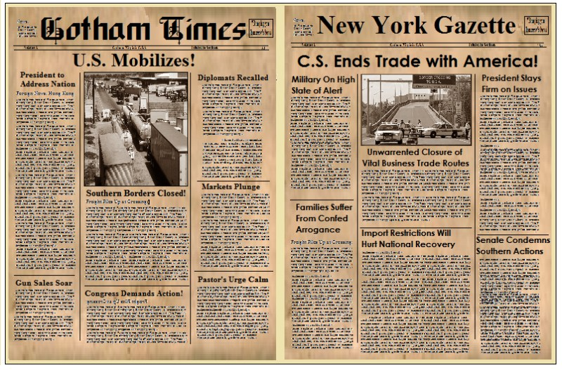 old newspaper template editable gallery