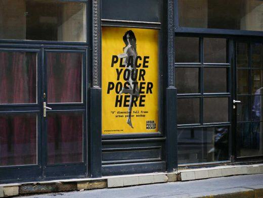 urban billboard poster psd mockup psd mockups