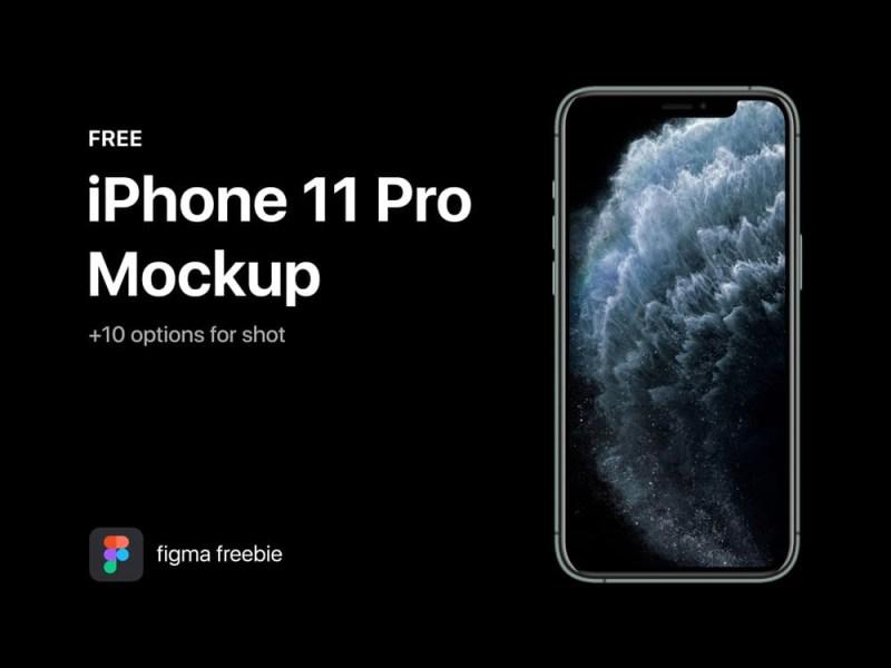 free iphone 11 pro mockup for figma free mockups freebiefy