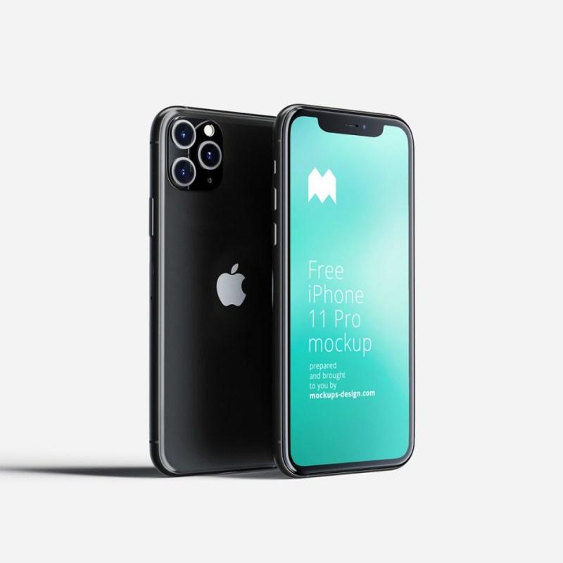 free iphone 11 pro mockup psdkits
