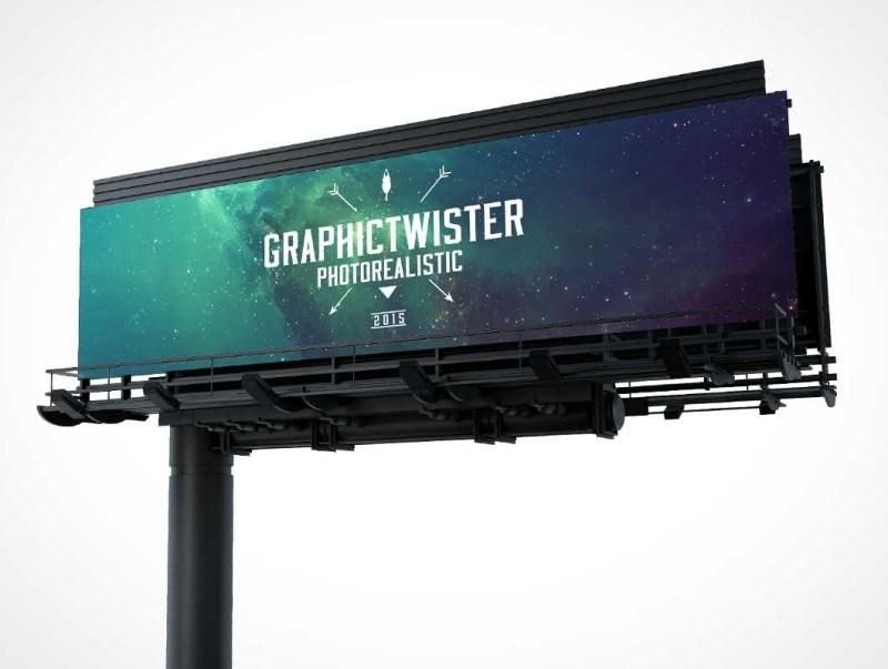 highway billboard psd mockup psd mockups