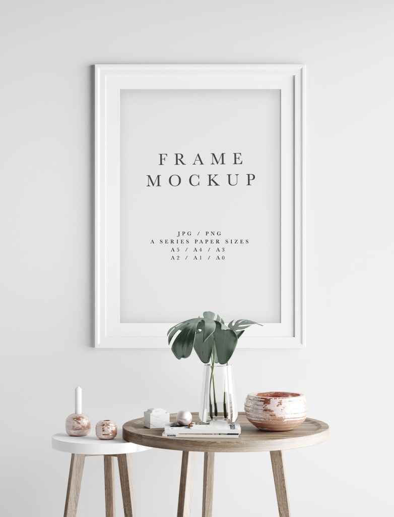 long white portrait frame mockup psd smart object 183