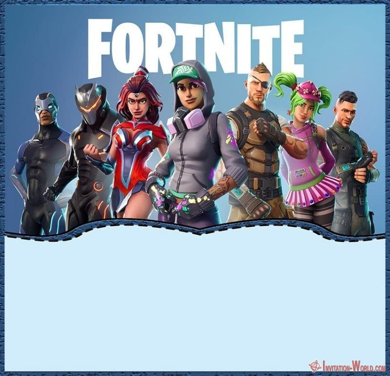 8 fortnite invitation templates for epic party