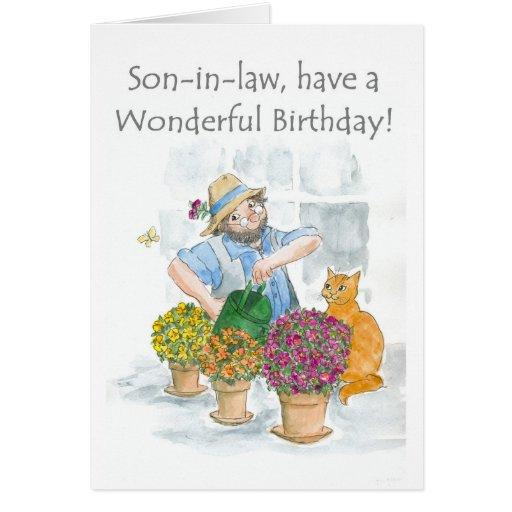 birthday card for a son in law gardening zazzle