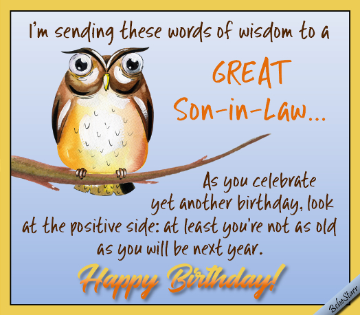 birthday cards for son in law card design template