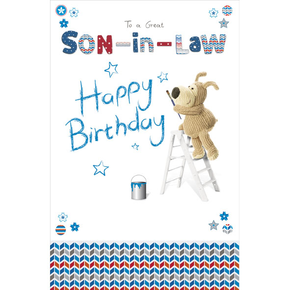 boofle son in law happy birthday greeting card cute range