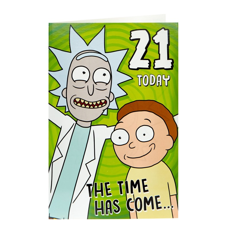 buy rick morty 21st birthday card for gbp 099 card