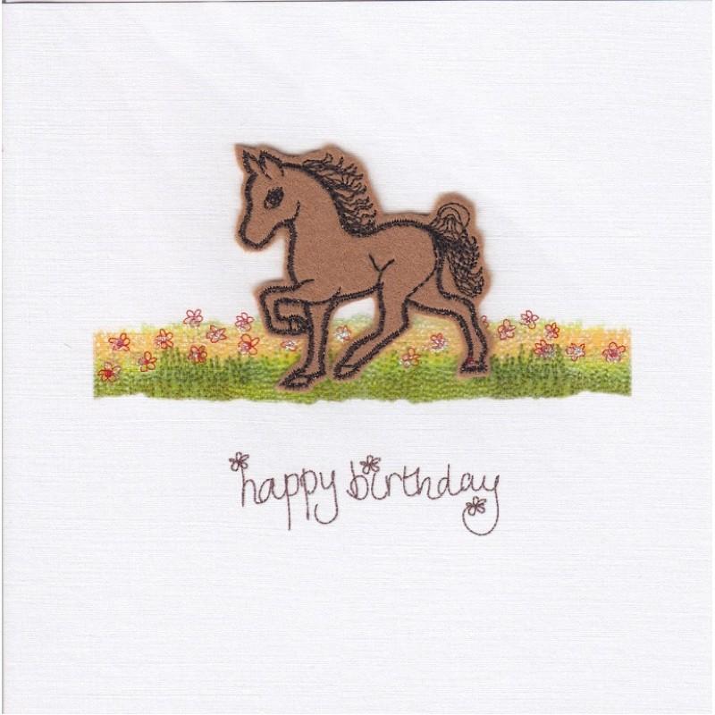 card horse happy birthday