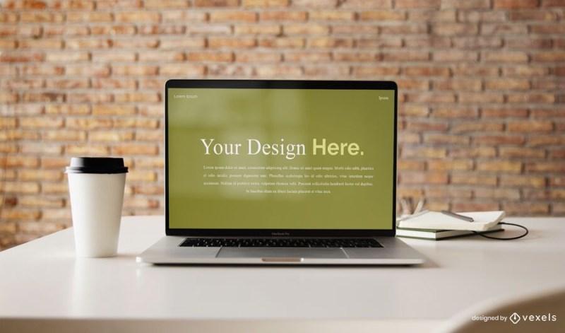 computer laptop mockup design psd mockup download