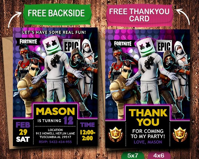 fortnite birthday invitations fortnite birthday party