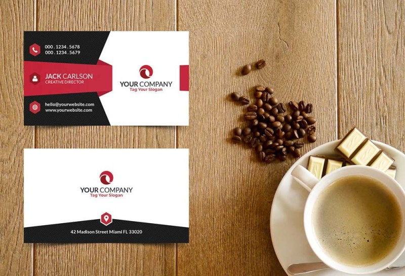 free business card mockup design template 2021 daily mockup