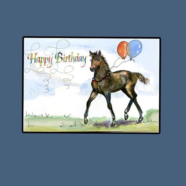 happy birthday horse card hilary williams artwanted