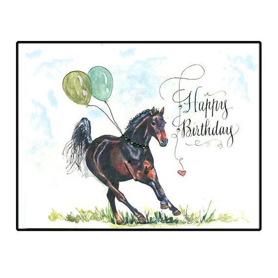 happy birthday thoroughbred horse card